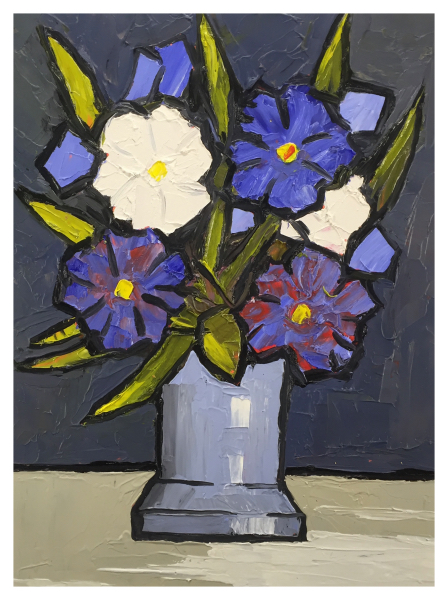 Floribunda in Footed Vase, David Barnes
