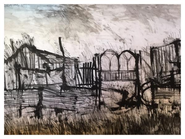 Landscape with Bridge, Arthur Berry