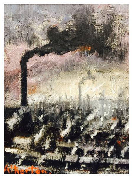 Rain Over the Town, William Atherton
