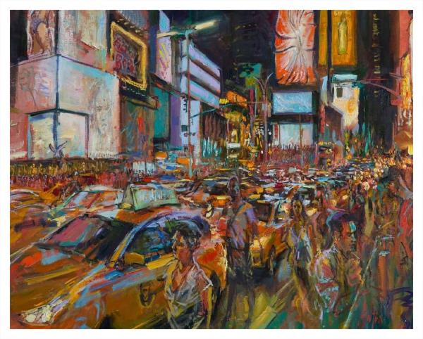Times Square Chaos, NY, Rob Pointon