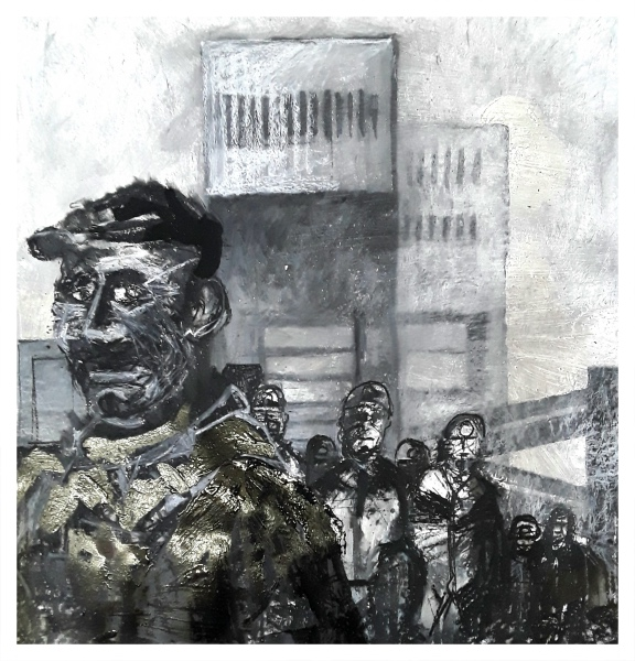 Pearsall, Ian R. (1967 – ) Shift up! (Wolstanton Pit heads) - Trent Art