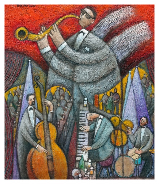 Borsky, Jiri (1945 – ) Jazz Angel - Trent Art
