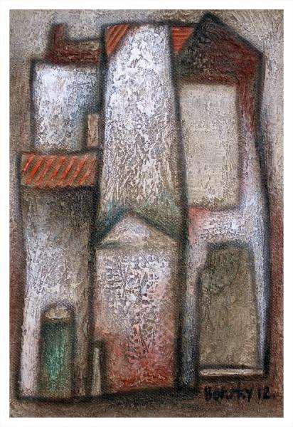 Borsky, Jiri (1945 – ) Houses I (Small) - Trent Art