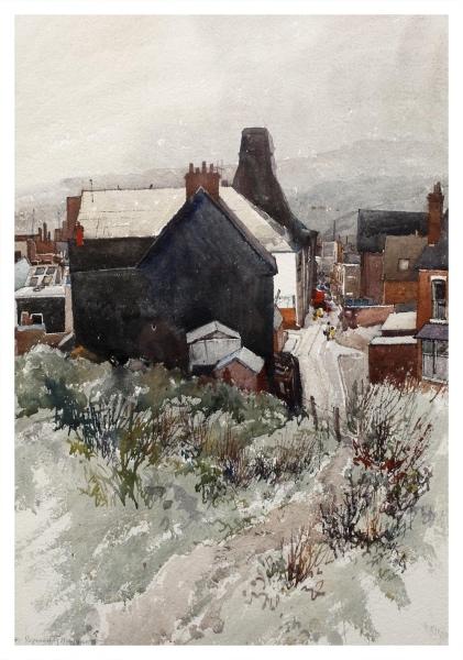 Haggar, Reginald George (1905–1988) The Black Wall, Park Lane, Fenton - Trent Art