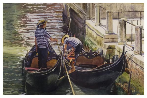 Faulkner, Neil (1952 – ) Venice Gondola's - Trent Art