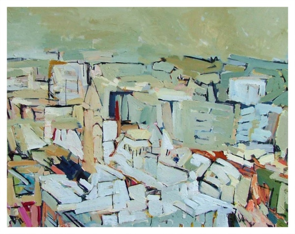 Taylor, Colin (1960 - ) South from Portland Tower, Manchester - Trent Art