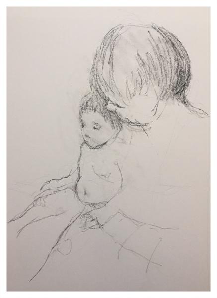 Mood, Ian (1973 – ) Mother & Child (After Mary Cassatt) - Trent Art