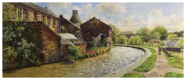 Faulkner, Neil (1952-) Sparkling Canal at Middleport - Trent Art