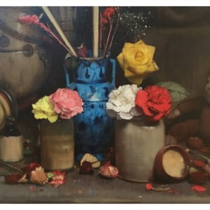 Barlow, Bohuslav (1947-) Flowers with Monkey