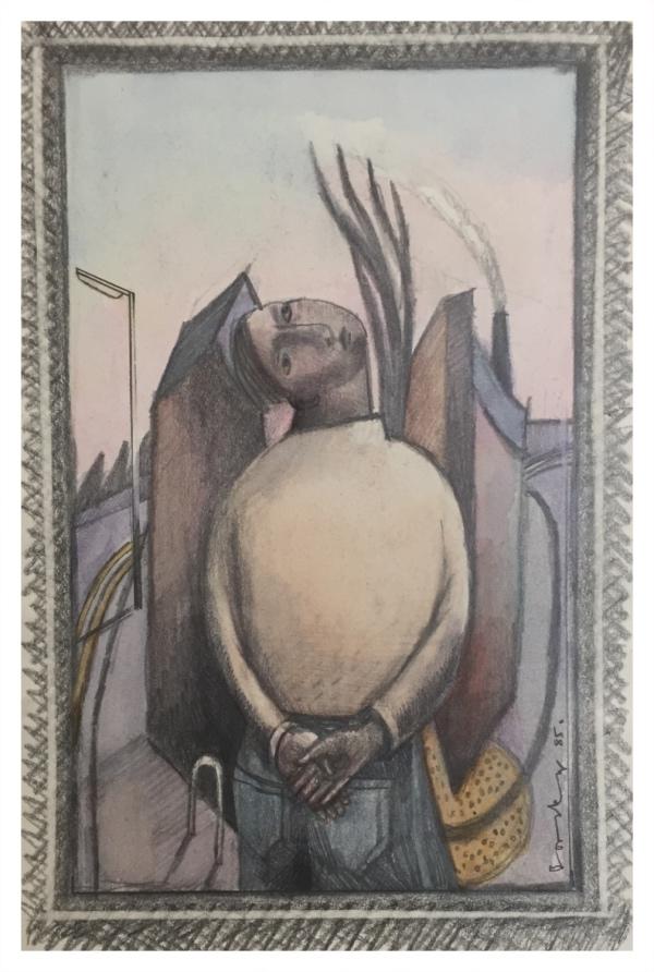 Borsky, Jiri (1945 – ) Man Looking up - Trent Art