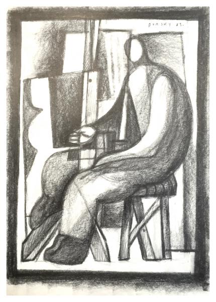 Borsky, Jiri (1945 – ) Artist in the Studio - Trent Art