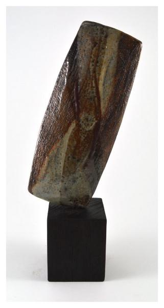 Soda Fired Blade with Charred Oak Base, Nicholas Marsh