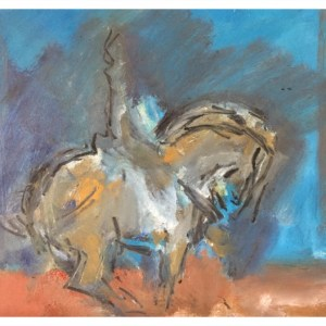 Howard, Ghislaine (1953 – ) Tang Horse with Rider 2016