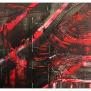 Higgin, Aubrey (1993 – ) Red & Black Abstract