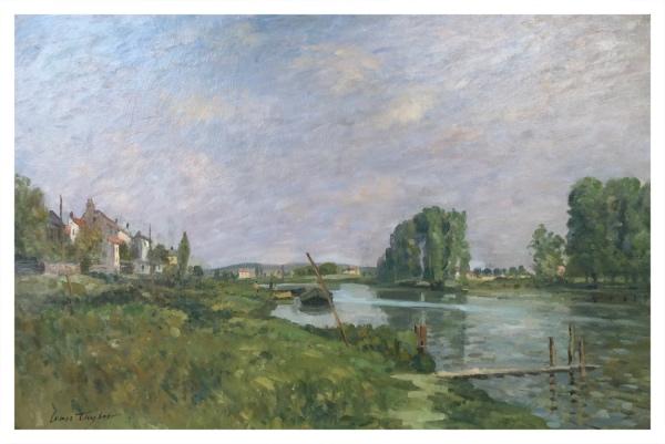 Ivan Taylor (1946 – ) L'ile Saint-Denis, After Alfred Sisley - Trent Art
