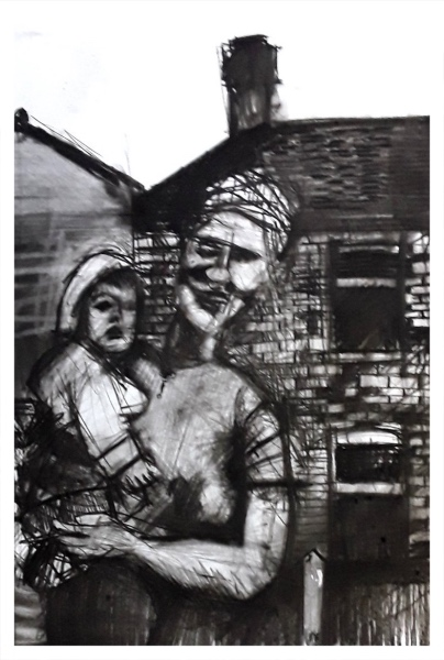 Pearsall, Ian R. (1967 – ) Mother & Child - Trent Art