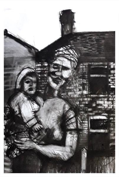 Pearsall, Ian R. (1967 – ) Mother & Child - Trent Art