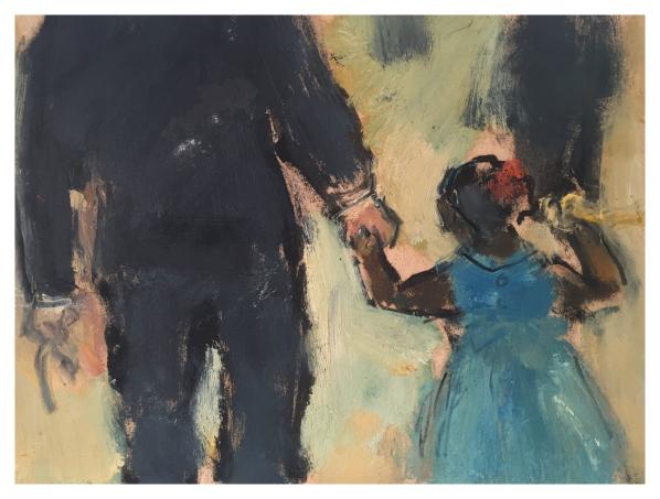 Howard, Ghislaine (1953 – ) Girl with the Red Bun (365 Series) - Trent Art