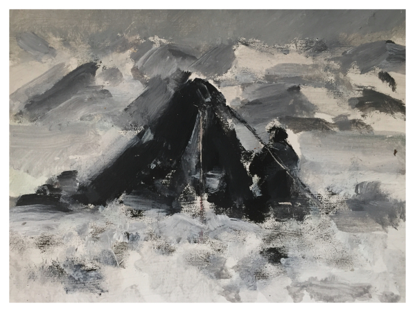 Howard, Ghislaine (1953 – ) After Captain Scott - Dr Wilson on Beardmore Glacier 1912 - Trent Art