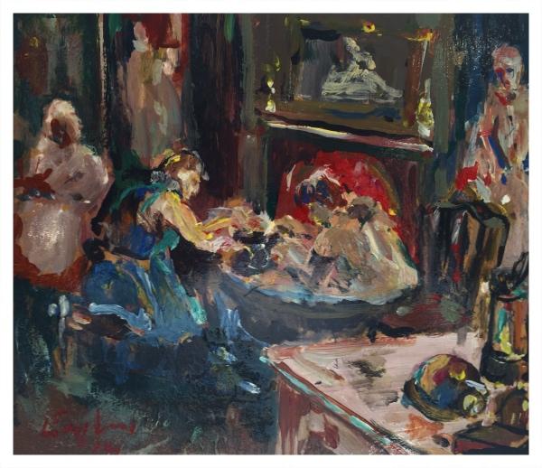 England, Frederick J NDD ATC (London) MFPS (1939 – ) Bath after Shift, Hanley Deep - Trent Art