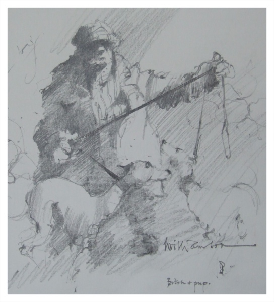 Williamson, Lawrie (1932 – 2017) Bitch with Pup - Trent Art