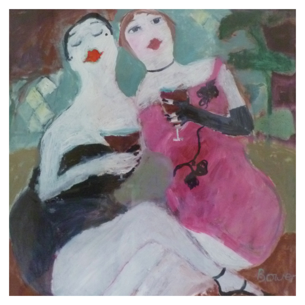 Bower, Susan RBA ROI (1953 - ) The girls at the Coq d'Or - Trent Art