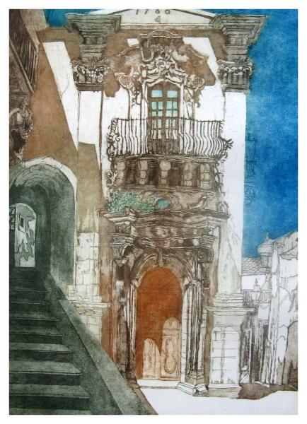 Halsby, Miranda RBA (1948 - ) Sicilian Palazzo Doorway - Trent Art