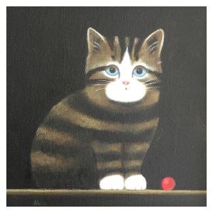 Leman, Martin RBA RWS (1934 – ) Kitten with Red Ball