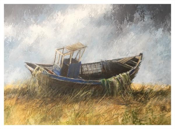 Brammeld, David RBA PS RBSA Pastelliste de France ( ) Abandoned Boat, Dungeness - Trent Art