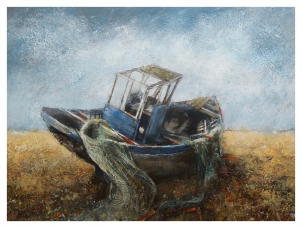 Brammeld, David RBA PS RBSA Pastelliste de France ( ) Tangled Nets (Old Boat, Dungeness) - Trent Art