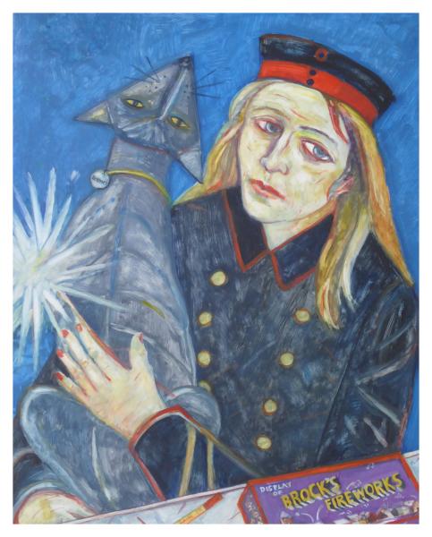Cairns, Joyce W RSA Hon.RBA RSW MA(RCA) (1947 - ) Fireworks - Trent Art