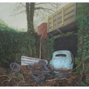 Cains, Rebecca RBA RWA (1968 – ) Morris Minor in Halls Scrap Yard