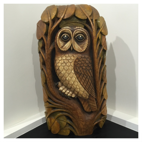 Clarkson, Jack (1906-1986) Owl Woodcarving - Trent Art