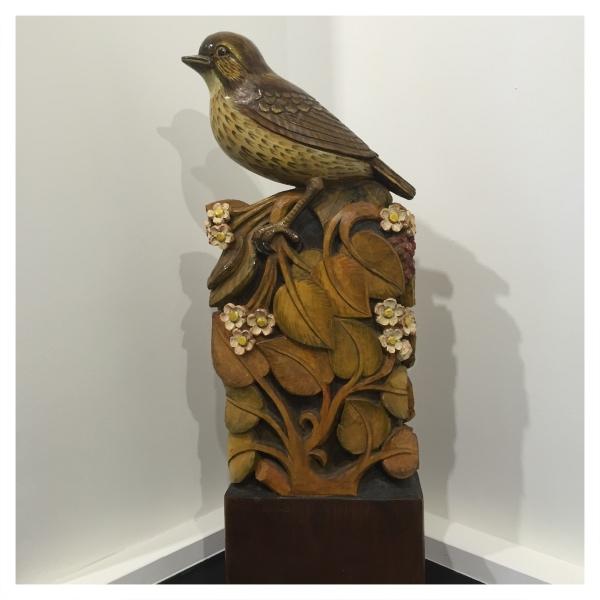 Clarkson, Jack (1906-1986) Thrush Woodcarving - Trent Art