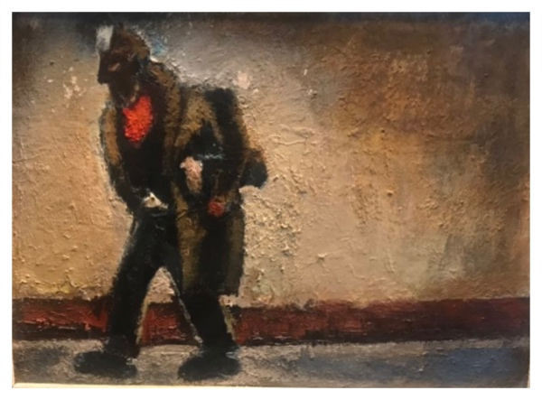 Josef Herman A Miner on the Road