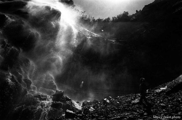 Alex Van Valin below Bridal Veil Falls.
