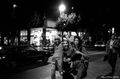 Halloween night on Telegraph Avenue.