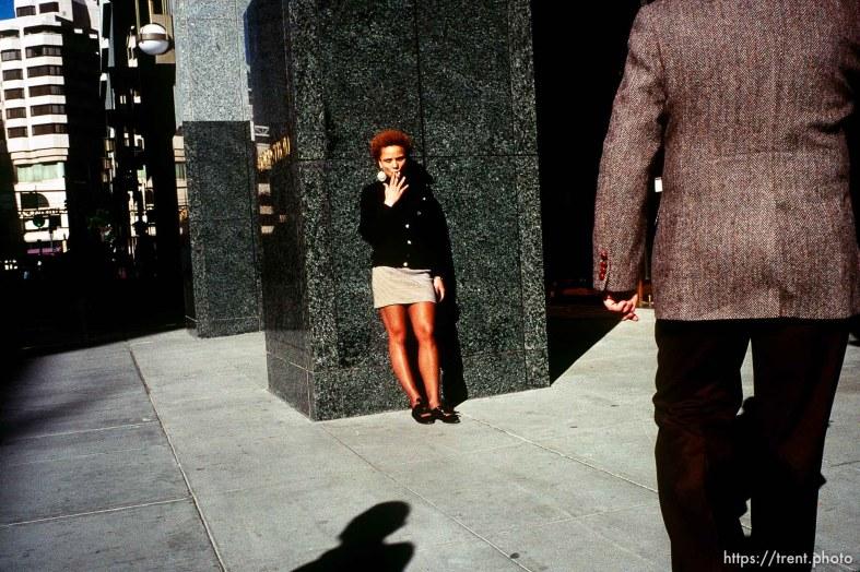 Street scene, san francisco december 1988.