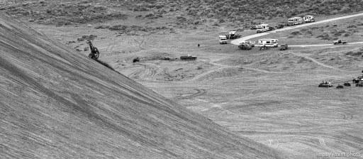 Dune buggy doing a wheelie on Sand Mountain.