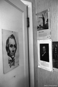 Portraits of LDS prophets at Nana's house.