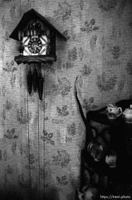 Clock on the wall at Nana's house.
