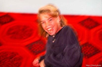 Girl laughing at Classic Skating Rink