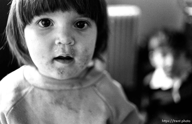 People living in the Hideaway Motel. Little girl.