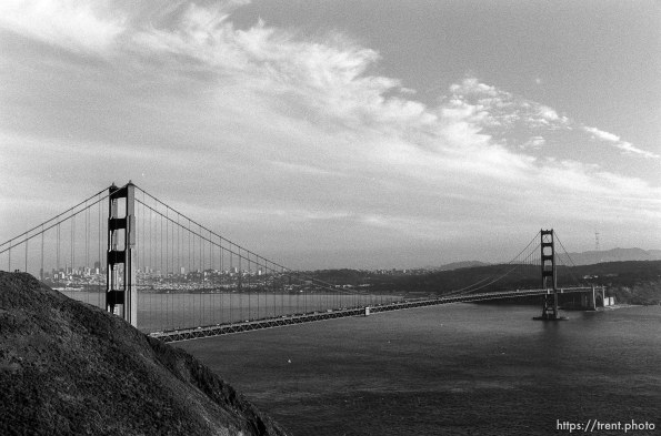 View of Golden Gate Bridge and San Francisco.