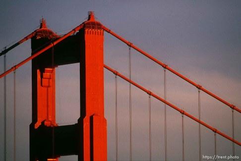 Golden Gate Bridge (detail).