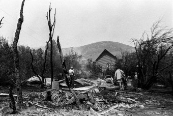 Ruins of homes burned in the Midway fire.