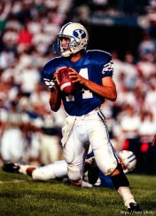Ty Detmer at BYU vs. Miami. BYU won.