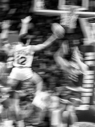 John Stockton at Jazz vs Houston (slow shutter).