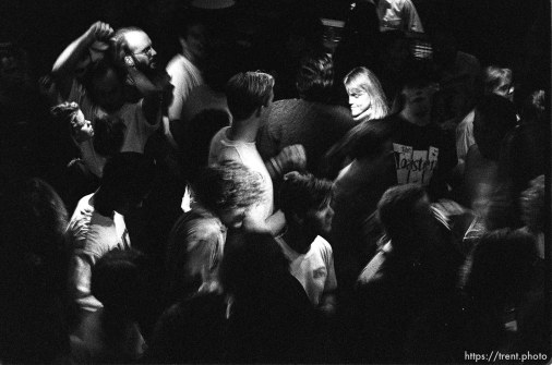 Crowd dancing at Bad Manners at the Zephyr Club.