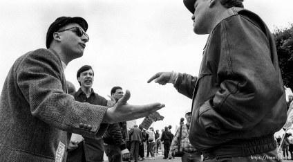 Argument at Gulf War celebration parade.